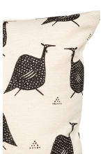 Patterned cushion cover - Natural white/Birds - Home All | H&M CN 3